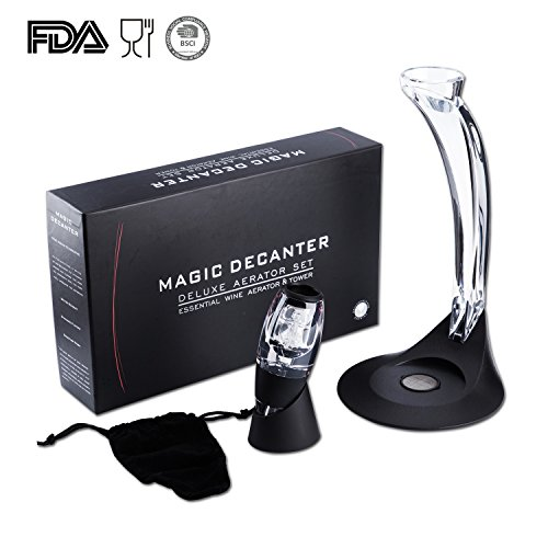 Us sense vino aeratore deluxe magic decanter per vino rosso premium bar attrezzature elegant regalo