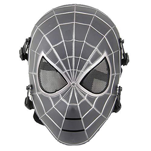 ke Cosplay Kostüm Mesh CS Airsoft Schutzmaske Halloween Prop Maskerade Party Maske Kostüm Gesichtsmasken,Black-OneSize ()