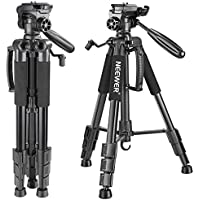 Neewer Portable 56 inches/142 centimeters Aluminum Camera Tripod with 3-Way Swivel Pan Head,Bag for DSLR Camera,DV Video Camcorder Load up to 8.8 pounds/4 kilograms Black(SAB234)