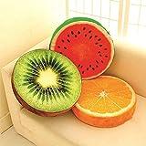 #7: InSale Round 3D Fruit Design Pillow Cushion - Multi Color Pillow