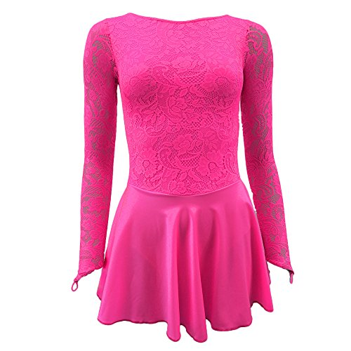 Starlite Flexuous Flo Pink Zoe Dress with Lycra Skirt Medium Adult (4)