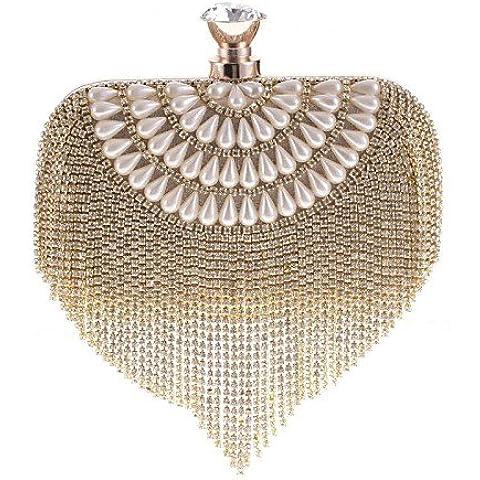 Limón & T L. WEST? Las mujeres de lujo diamantes fiesta/noche bolsa, dorado