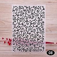 Patrón de plástico con sencillo diseño para hacer tarjetas y decoraciones tú mismo
