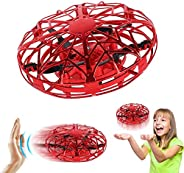 AMERTEER Mini Drone for Kids Adults, Flying Ball Hand Controlled Quadcopter Light Up Flying Toys, UFO Flying B