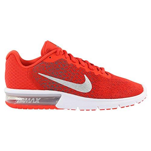 Nike Air Max Sequent 2, Scarpe da Ginnastica Uomo Rot (Max Orange/Cool Grey/University Red/Metallic Cool Grey)