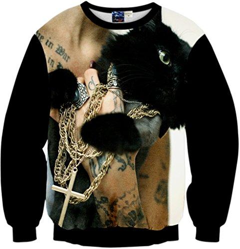 pizoff-unisex-hip-hop-sweatshirts-with-3d-digital-printing-3d-pattern-tattoo-black-cats-cross-neckla