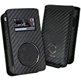 Faux Leather Case Cover & Belt Clip for Roberts Sports Radio DAB 3 - Carbon Black