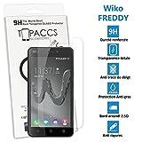 topaccs Wiko FREDDY - Véritable vitre de protection écran en Verre trempé ultra résistante - Protection écran