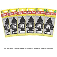 Little Trees MTZ04 Air Fresheners Black Ice, 6 Pieces - ukpricecomparsion.eu