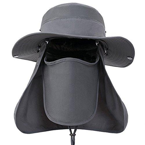 enkrio Unisex pesca sombrero tapa sombreros UPF 50 + 360 Degree protección  solar sol gorra con aa6a7e3e5a9