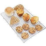 Andrew James Abkühlgitter mit Antihaftbeschichtung für Kuchen und Kekse | Hitzebeständig | Beschichtetes Eisen | Rechteckig 40cm x 25cm