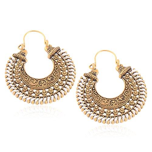 Tiaraz Women's Alloy Traditional Earrings(White)