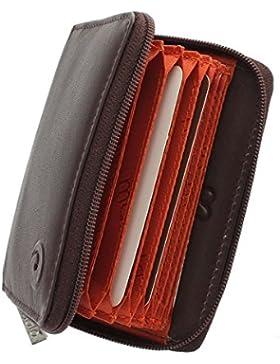 Mala Leather Colección ORIGIN Tarjetero de Crédito Concertina de Cuero con Protección RFID 552_5