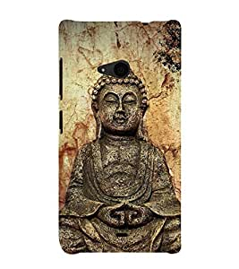 Gautam Buddha 3D Hard Polycarbonate Designer Back Case Cover for Nokia Lumia 535 :: Microsoft Lumia 535