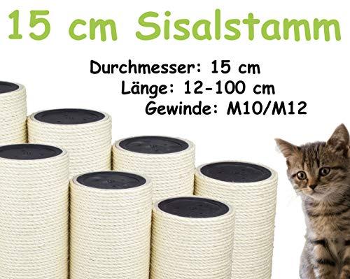 kratzbaumland 15 cm Sisalstamm (Länge: 12-100 cm; Gewinde: M10/M12) Stammlänge: 35 cm/Gewinde: 10 mm (M10)