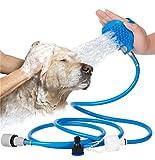Haustier-Badungs-Werkzeug-Haustier-Duschsprüher und Wäscher-Hunde und Katzen Handdusche-Baden-Handschuh-Sprüher mit Massage-pflegenbürste 7.5 Fuß-Schlauch und 2 Schlauch-Adapter Innenaußengebrauch