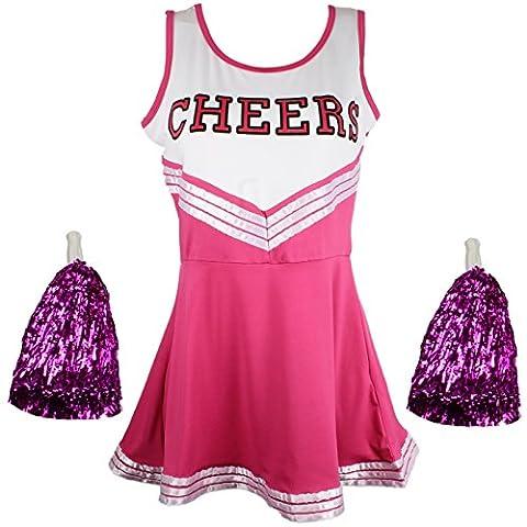 Cheerleader Fancy Dress Outfit Uniform High School