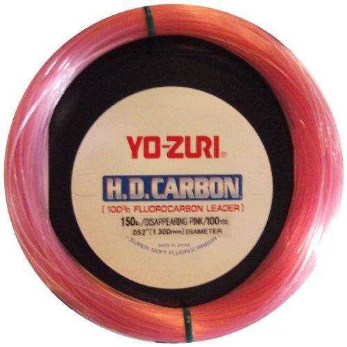 Yo-Zuri 30-Yard HD Fluorocarbon Leader Line, Pink, 130-pound -