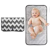BelleStyle Foldable Travel Changing Mat, Portable Nappy Changing Mat with Head Cushion Waterproof Travel Diaper Changing Pad Infant Urinal Pad Baby Changing Kit for Home Travel Outside