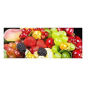 Bilderwelten Glasbild Wandbild Glas Kunstdruck mit Aufhängung Obst Mix 30 cm x 80 cm