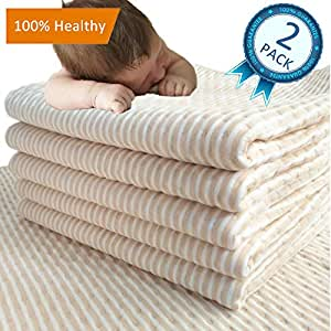 """MICROFIRE Waterproof Washable Bed Pad for Baby Kids Toddler for Potty Training Women Lady Elderly Care Crib Mattress Protector Soaker Sheet Large 2 Packs (XXXL-47"""" x 28"""")"""