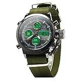 Godere–Bracciale Orologi automatico cronografo impermeabile orologio sportivo per estate vacanza spiaggia Sport Bergsteiger Orologio da polso (verde)