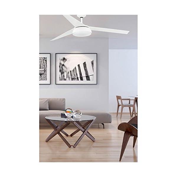 Faro-Barcelona-Vulcano-33549-Ventilador-con-luz-bombilla-incluida-LED-25W-cuerpo-de-acero-palas-abs-blancas-y-difusor-de-cristal-opal-color-blanco