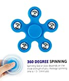 #10: Flipzon 360 Fidget Hand Spinner Five Pointed Star Sides Toys for Adults/ Kids, Assorted Color