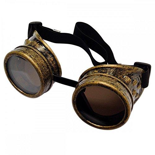 Steampunk Brille Kupfer Goggles Schweißerbrille Accessoire Burning Man