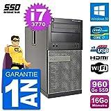 Dell PC 3010 MT i7-3770 RAM 16Go SSD 960Go HDMI Windows 10 WiFi (Reconditionné)