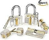 Godpick 6pcs Locks Transparent Visible Cutaway Practice Kit Padlock Door Lock Pick Training Skill For Locksmith Beginner