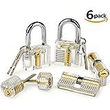 Godpick 6 Schlösser transparent sichtbar Cutaway Praxis Kit Vorhängeschloss Tür Lock Pick Training Skill für Locksmith Anfänger