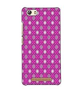 Fuson Designer Back Case Cover for Gionee Marathon M5 lite (Pink designer pattern)