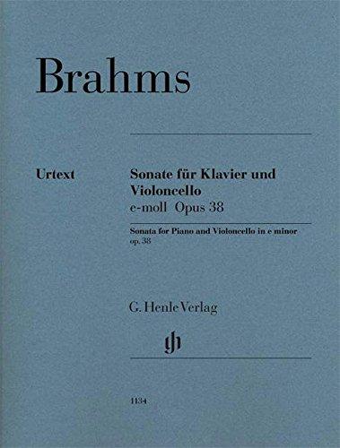 Sonate Opus 38 en mi mineur --- Violoncelle et Pia...