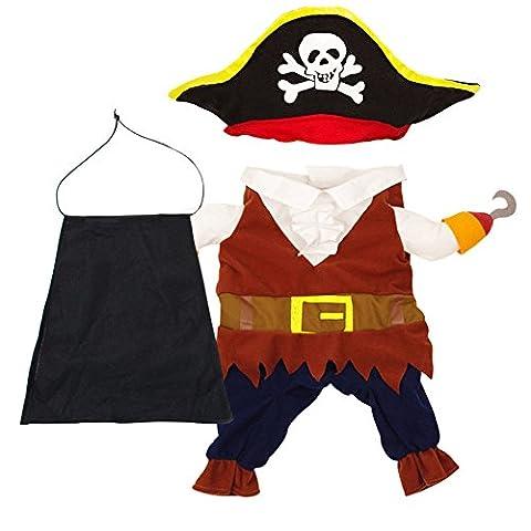 Moolecole Lustige Haustier-Kleidung Piraten der Karibischen Art-Haustier-Kostüm-Klage für (Kühle Superheld Kostüme)