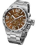 TW Steel Unisex-Armbanduhr Canteen Bracelet Chronograph Edelstahl Silber CB23