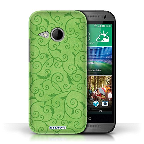 Kobalt® Imprimé Etui / Coque pour HTC One/1 Mini 2 / Orange conception / Série Motif de la vigne Vert