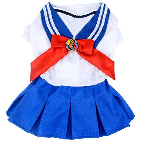 smalllee_lucky_store Sailor Kleid Cute für Kleine Hunde, Hund -