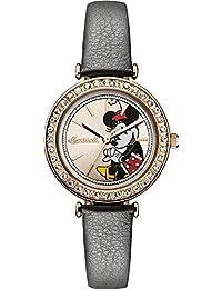 Reloj Cuarzo Disney by Ingersoll Para Mujer Con  Oro Rosa Analogico Y Verde Mezcla ID00302