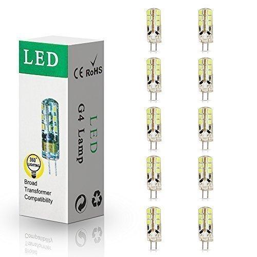 ELINKUME 10 Package G4 Ampoule LED 3W LED Bulb Blanc Chaud 24 SMD 2835LED 260LM Spot Ampoule Lampe DC12V Lumiere LED