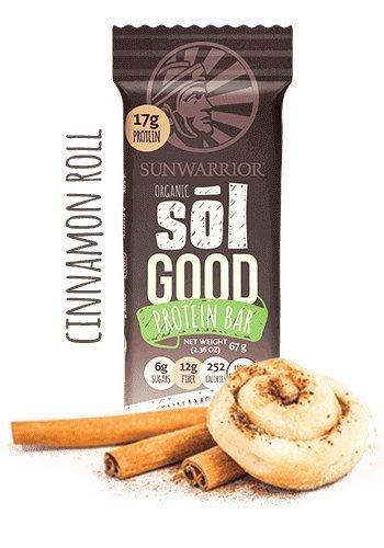 62g Protein (Sunwarrior Sol Good Protein Riegel Cinnamon Roll 1 x 62 g)