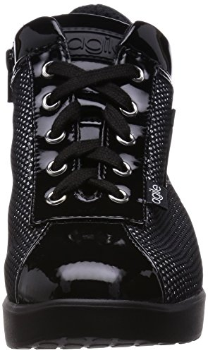 Agile By Rucoline 226 A Sneakers Femme Vernis/tissu Noir