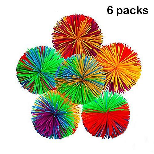Geschenk Spielzeug für Jungen Mädchen 2-10 Jahre alt, Affe Fadenkugeln Sensorische Zappeln Spielzeug Stress Bälle Regenbogen Pom Ball Aktives Spielzeug Geburtstagsgeschenk für Kinder 2-10 Jahre alt (Jahre Jungen Spielzeug Alt 7 Für)