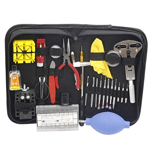 LouiseEvel215 Reparatur Tabellentools beobachten Hilfsmittelset Clock Repair Tool Kit Opener Verbindungpin-Remover-Set Federsteg Uhrmacher Werkzeuge Teile -