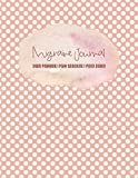 Migraine Journal: Self Care Daily Planner, Pain Tracker and Food Diary - Peach Polka Dot