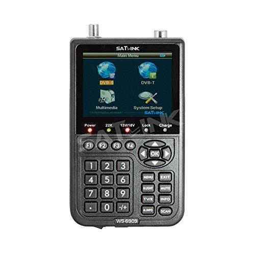 "SATlink WS - 6909 Mesureur de champ Satellite et terrestre DVB-S 3,5 ""& DVB-T Satellite Signal Finder Meter"