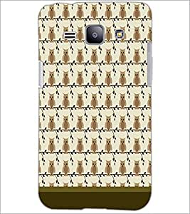 PrintDhaba Owl Pattern D-1649 Back Case Cover for SAMSUNG GALAXY J1 (Multi-Coloured)