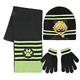 Cerdá Jungen Mütze, Schal & Handschuh-Set 2200002515, Schwarz (Negro 001), One Size (Herstellergröße: Única)
