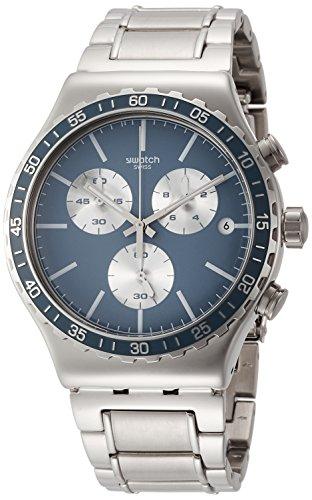 Swatch Reloj Cronógrafo para Hombre de Cuarzo con Correa en Acero Inoxidable YVS438G