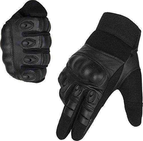 normani Taktische Handschuhe Vollfinger Handschuhe für Motorrad Fahrrad Airsoft Militär Paintball mit Knöchelschutz Größe S